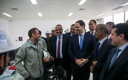 Youssef Chahed visite le Groupe chimique tunisien et inaugure la nouvelle usine Mdhilla 2