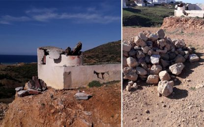 El-Haouaria : Un individu détruit le mausolée Sidi Aissa pour s'approprier le terrain (Photos)