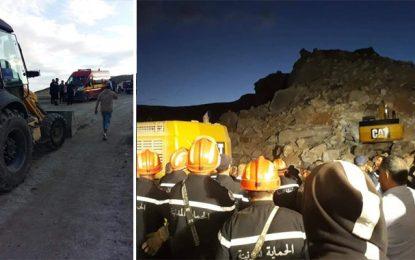 Effondrement d'un rocher dans une carrière à Enfidha : Deux ouvriers portés disparus