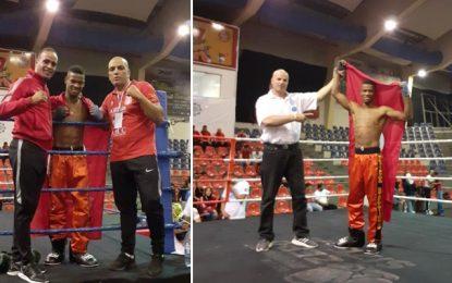Jasser Dabbous vainqueur du championnat arabe de kick-boxing à Amman