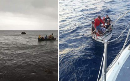 Kerkennah : Sauvetage en mer de 40 migrants clandestins de différentes nationalités
