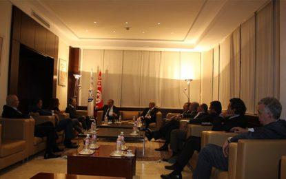 Utica : Samir Majoul reçoit Nabil Karoui, président du parti Qalb Tounes