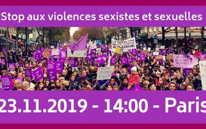 Des Tunisiennes dans la marche à Paris contre les violences sexuelles et sexistes