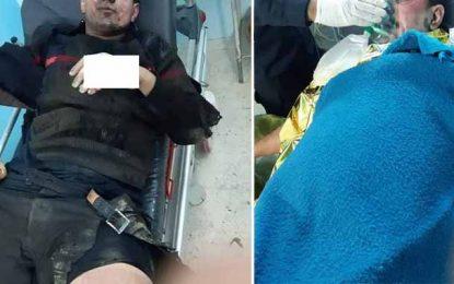 Ras Jedir : Cinq agents de la protection civile brûlés dans l'explosion d'un réservoir d'essence d'une voiture