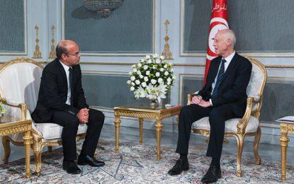 Kaïs Saïed reçoit Youssef Bouzakher, président du Conseil supérieur de la magistrature (CSM)