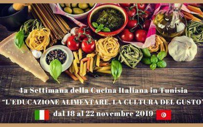 La Semaine de la cuisine italienne à Tunis, du 18 au 22 novembre 2019