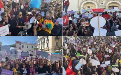 Tunis : Marche nationale contre les violences faites aux femmes (Vidéo)