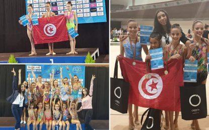 Quinze médailles, dont 8 en or pour les petites tunisiennes au Tournoi international de Gym rythmique au Portugal