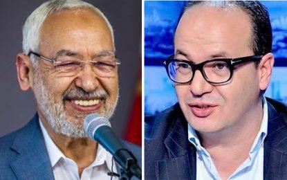 Hatem Mliki (Qalb Tounes) rend à Rached Ghannouchi la monnaie de sa pièce