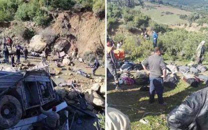 Accident de bus de Amdoun : Les noms des 21 morts dont les corps ont été livrés à leurs familles