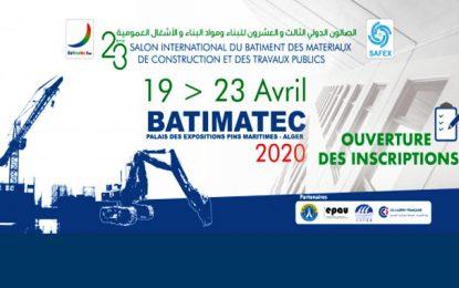 Des entreprises tunisiennes à la 23e édition du salon Batimatec à Alger en avril 2020
