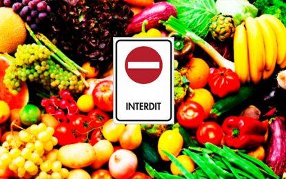 L'Union européenne interdit aux voyageurs de ramener des fruits et légumes de pays tiers (dont la Tunisie)