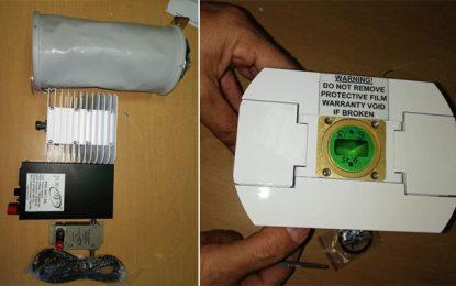 Kasserine : Saisie de matériel de brouillage de communications dans un colis en provenance de l'étranger (Photos)