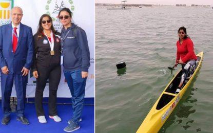 La Tunisienne Nedra Trabelsi décroche l'or au Championnat arabe de canoë-kayak