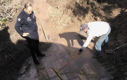 Oued Meliz : Découverte d'une mosaïque ancienne suite à l'arrestation d'un «chercheur de trésors» (Photos)