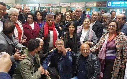 La militante des droits de l'homme Radhia Nasraoui en France pour se faire soigner  (Photos)