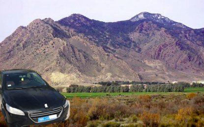 La dernière trace des 25 voitures de location volées, détectée près de Jebel Chambi à Kasserine !