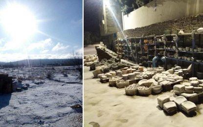 Les premières chutes de neige à Kasserine et Siliana (Photos)