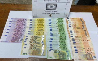 La douane saisit de 13.500 euros à l'aéroport de Tunis-Carthage