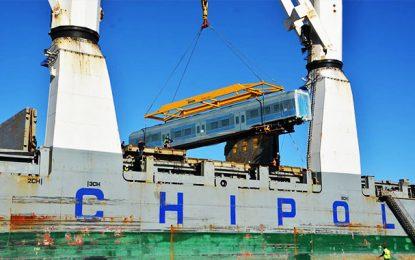 Tunisie : Des wagons neufs de la SNCFT sont arrivés ce mercredi 25 décembre 2019 au Port de Radès