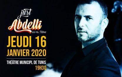 Demain au Théâtre municipal de Tunis : Lotfi Abdelli présentera son one man show «Just Abdelli 100% Tabou»