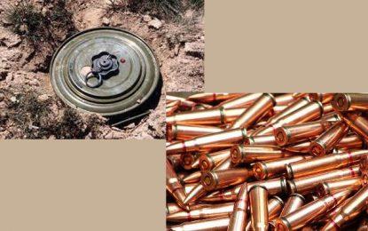 Gafsa : découverte d'un important stock de mines et de matières premières pour explosifs et munitions