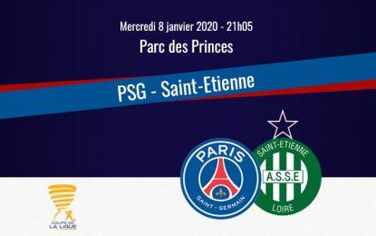 PSG-ASSE en live streaming: Quart de finale Coupe de la Ligue