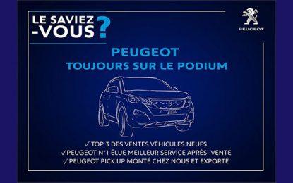 Peugeot au Top 3 des meilleures ventes en Tunisie