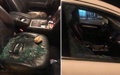Nabeul : Arrestation d'un individu qui a caillassé des voitures à Soliman (Photos)