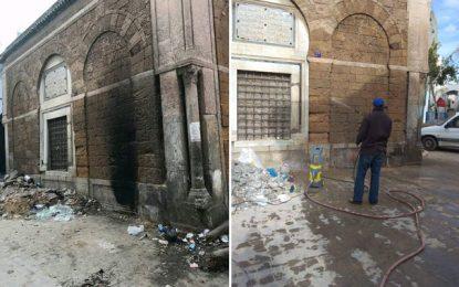 Medina de Tunis : Opération de nettoyage autour du mausolée El-Fleri à Tourbet El Bey