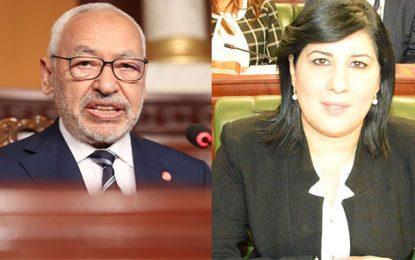 Présidence de l'ARP : Abir Moussi demande la destitution de Rached Ghannouchi