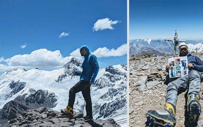 Récit : Le grimpeur tunisien Anis Trimèche à l'assaut de l'Aconcagua