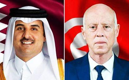 L'émir du Qatar, Cheikh Tamim Al Thani, en visite à Tunis, à l'invitation du président Kaïs Saïed