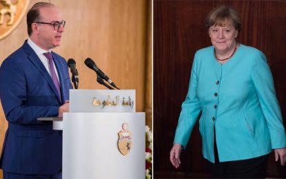 La chancelière allemande Angela Merkel félicite Elyes Fakhfakh