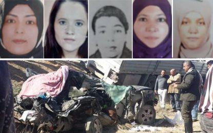 Drame à Kasserine : Décès de 5 institutrices dans un accident de la route à Boulaaba