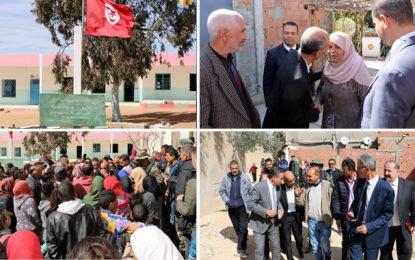 Mohamed Hamdi à Kasserine pour présenter ses condoléances aux familles des 5 institutrices de Oued Racheh (Photos)