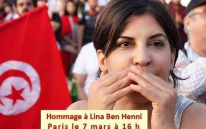 Hommage à Lina Ben Mhenni, le 7 mars, à Paris