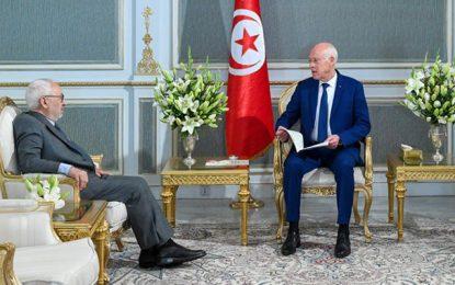 Saïed reçoit Ghannouchi pour lui rappeler que le maître de la situation actuelle c'est le président de la république (Vidéo)