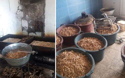 Sfax : Du kaki avarié dans un entrepôt illégal, où aucune règle d'hygiène n'est respectée (Photos)