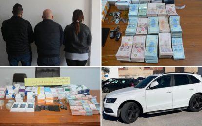 Tunis : Deux étrangers et une Tunisienne arrêtés pour trafic de drogue (Vidéo)