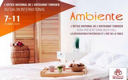 Des artisans tunisiens participent au salon Ambiente 2020 à Francfort