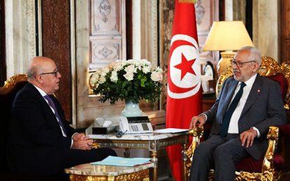 Ghannouchi à El Abassi : «Il faut tenir le dossier des finances publiques à l'écart des tensions politiques»