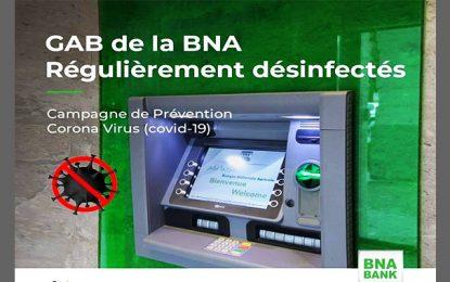 Coronavirus : la BNA désinfecte régulièrement ses GAB