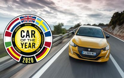 La nouvelle Peugeot 208 élue Car of the Year 2020