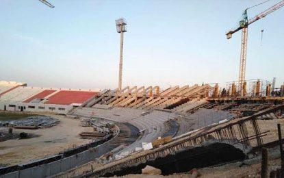 Les travaux suspendus au stade de Sousse