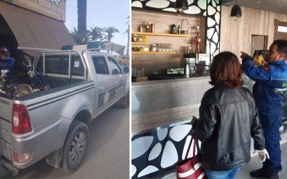 Tunisie – Coronavirus : Contrôles sanitaires dans les cafés et restaurants (Photos)