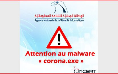 Sécurité informatique : attention au malware corona.exe