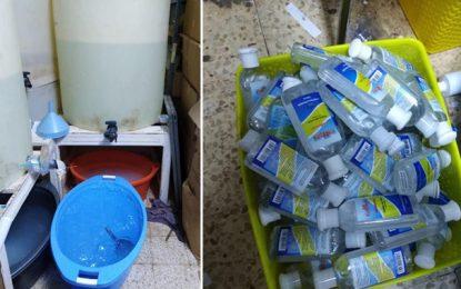 Sfax : Du gel antiseptique fabriqué avec des produits chimiques périmés ! (Photos)