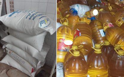 Spéculation : Saisie de 4 tonnes de sucre, 3.000 litres d'huile et 50 kg de farine, à Monastir (Photos)