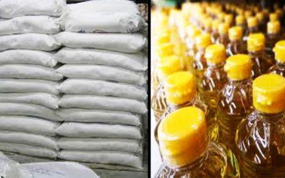 Béja-Spéculation : saisie de 2.124 litres d'huile végétale et de 3 tonnes de sucre